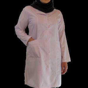 IMG 8426 copy 300x300 - روپوش پزشکی زنانه یقه آرشال