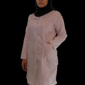 IMG 8428 copy 300x300 - روپوش پزشکی زنانه یقه آرشال