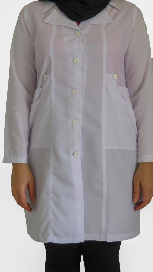 IMG 8572 copy 600x1068 - روپوش پزشکی زنانه یقه خرگوشی