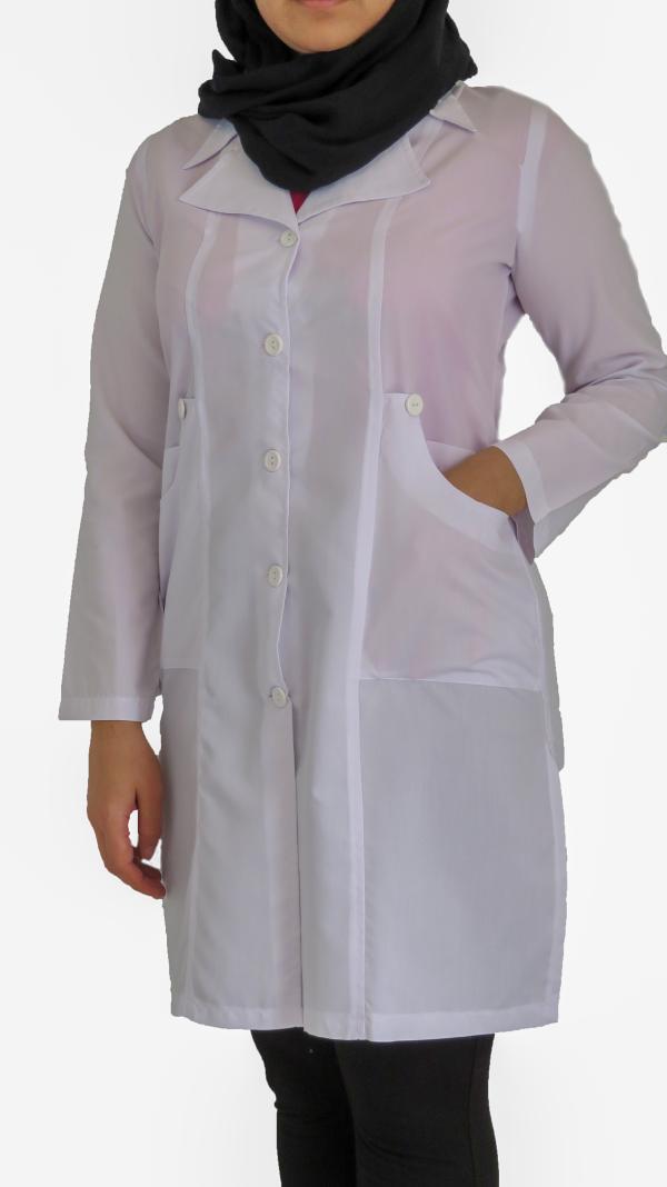 IMG 8577 copy 600x1068 - روپوش پزشکی زنانه یقه خرگوشی