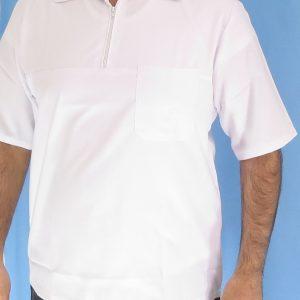 1 1 300x300 - بلوز تک نیم زیپ سفید مردانه