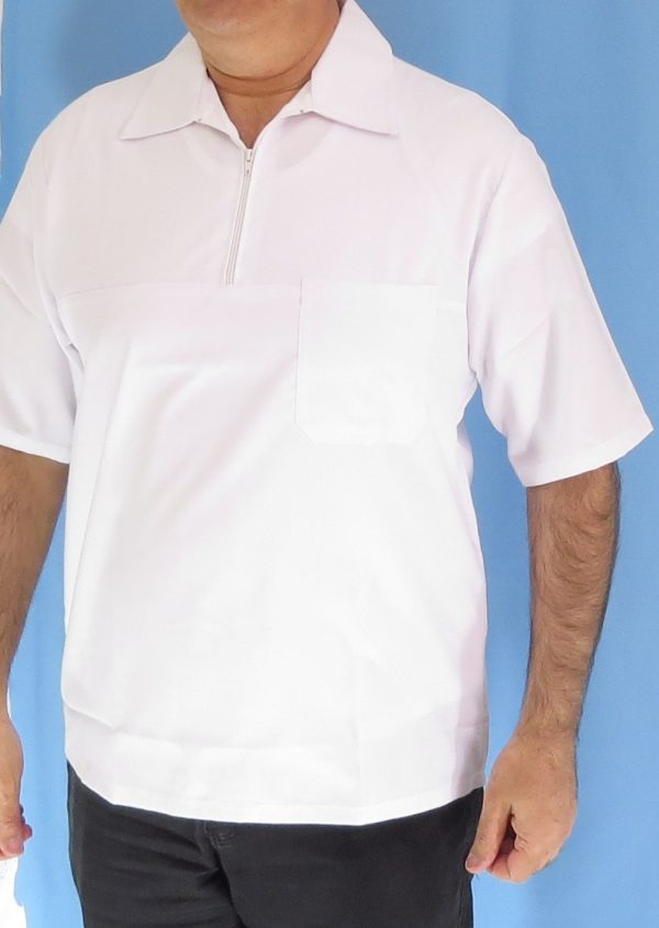 1 1 600x845 - بلوز تک نیم زیپ سفید مردانه