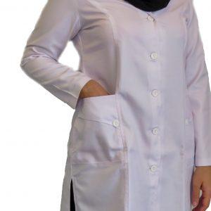 1 300x300 - روپوش پزشکی زنانه سه جیب