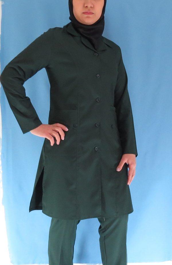 1 6 600x925 - مانتو شلوار زنانه اتاق عمل - رنگ سبز یشمی