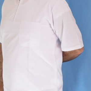2 1 300x300 - بلوز تک نیم زیپ سفید مردانه