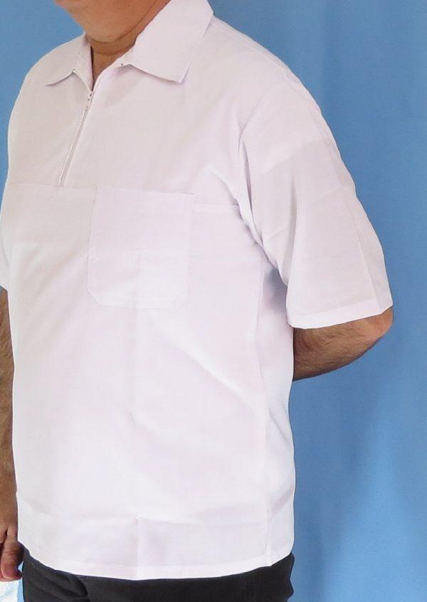 2 1 600x846 - بلوز تک نیم زیپ سفید مردانه