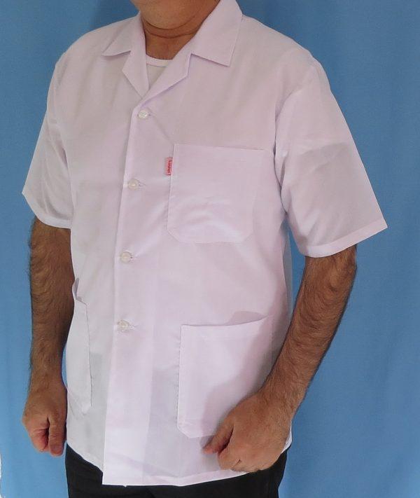 2 4 600x711 - روپوش پزشکی کتی مردانه یقه انگلیسی