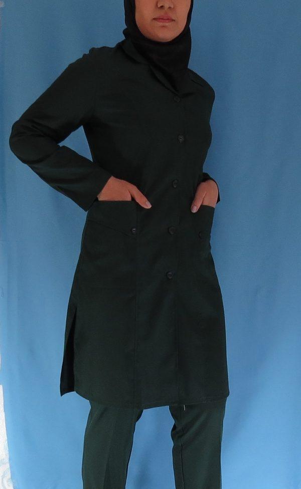 2 6 600x976 - مانتو شلوار زنانه اتاق عمل - رنگ سبز یشمی