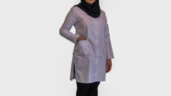 2 600x337 - روپوش پزشکی زنانه سه جیب