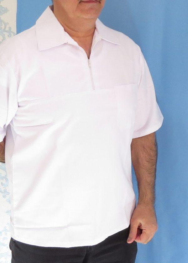 3 1 600x839 - بلوز تک نیم زیپ سفید مردانه