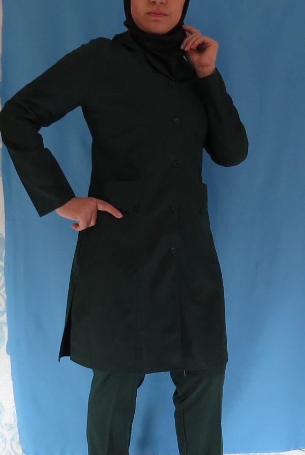 3 5 600x895 - مانتو شلوار زنانه اتاق عمل - رنگ سبز یشمی