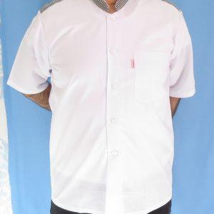 4 3 300x300 - پیراهن سفید مردانه یقه فرنچ مدل چهارخانه