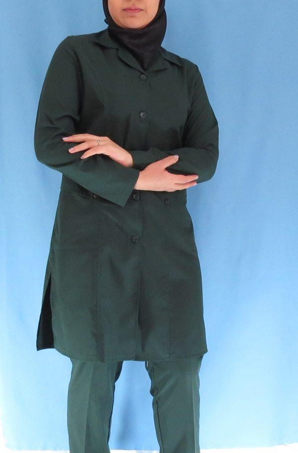 4 5 600x911 - مانتو شلوار زنانه اتاق عمل - رنگ سبز یشمی