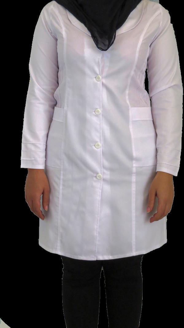 IMG 8547 copy 600x1068 - روپوش پزشکی زنانه آرشال پیله دار