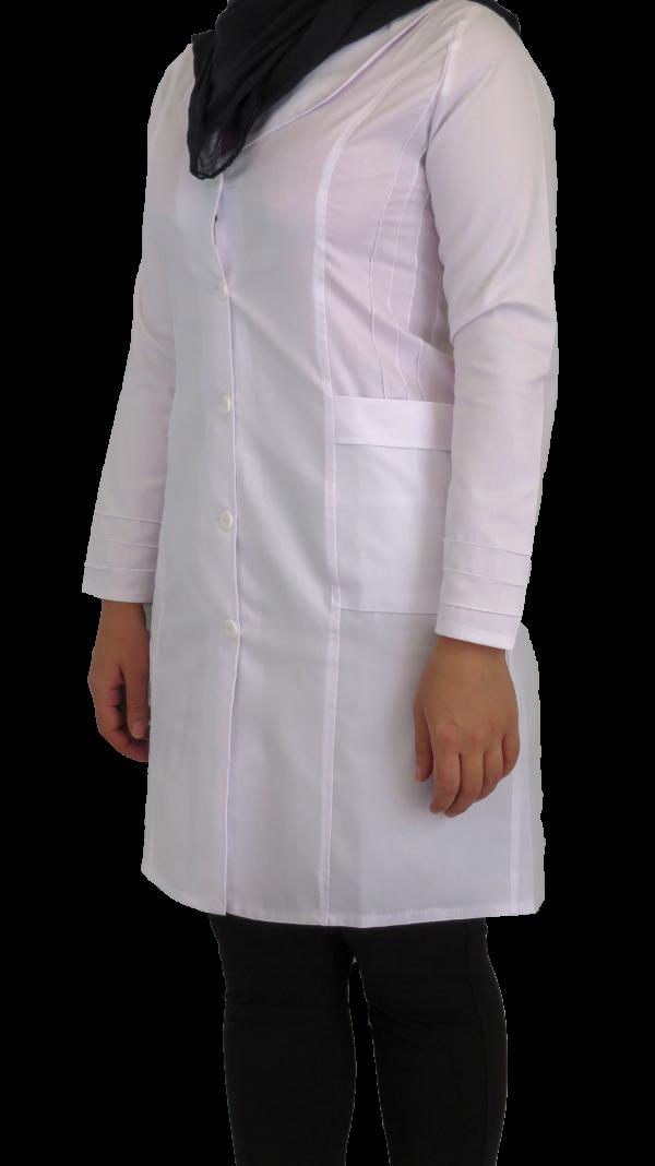 IMG 8551 copy 600x1068 - روپوش پزشکی زنانه آرشال پیله دار