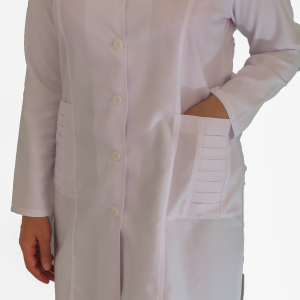 IMG 8658 copy 300x300 - روپوش پزشکی زنانه جیب پیله دار