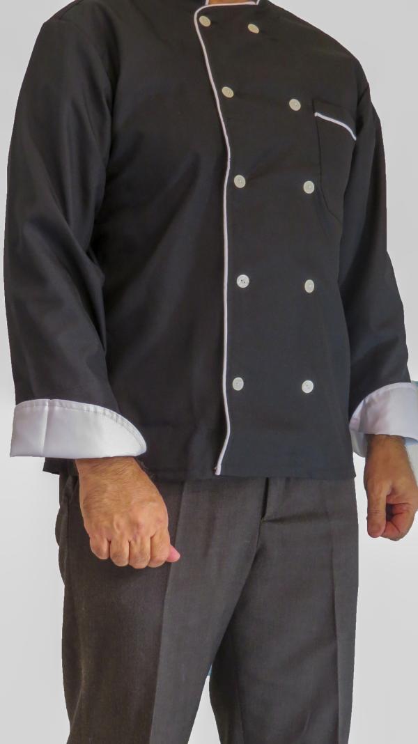 IMG 8677 copy 600x1068 - لباس سرآشپزی مدل 10 دکمه