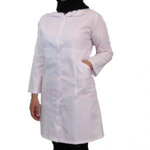 Kamar Pilise2 300x300 - روپوش پزشکی زنانه کمر پلیسه