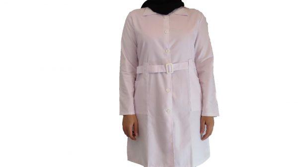 Kamarbandi 600x337 - روپوش پزشکی زنانه کمر بنددار