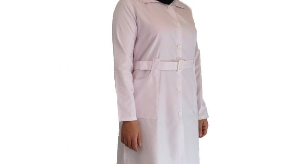 Kamarbandi1 600x337 - روپوش پزشکی زنانه کمر بنددار