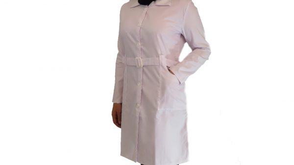Kamarbandi2 600x337 - روپوش پزشکی زنانه کمر بنددار
