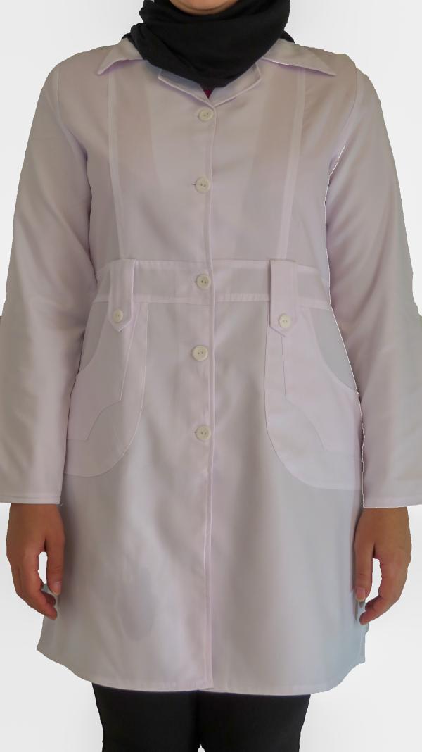 IMG 8619 copy 600x1068 - روپوش پزشکی زنانه مدل صبا