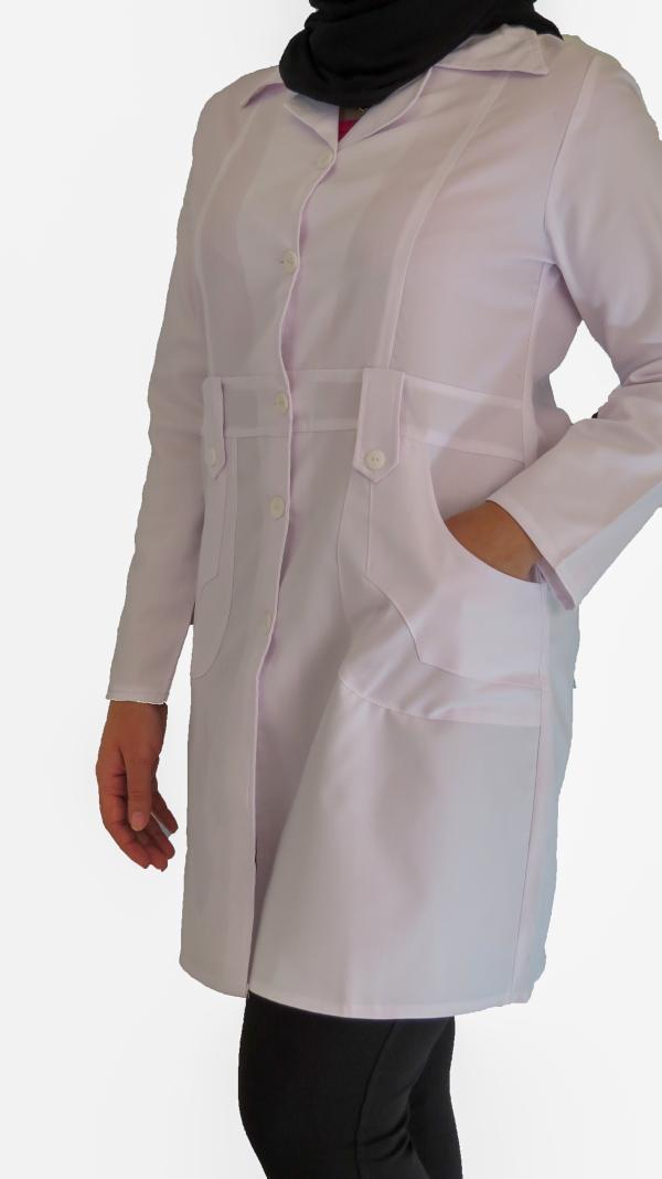 IMG 8624 copy 600x1068 - روپوش پزشکی زنانه مدل صبا