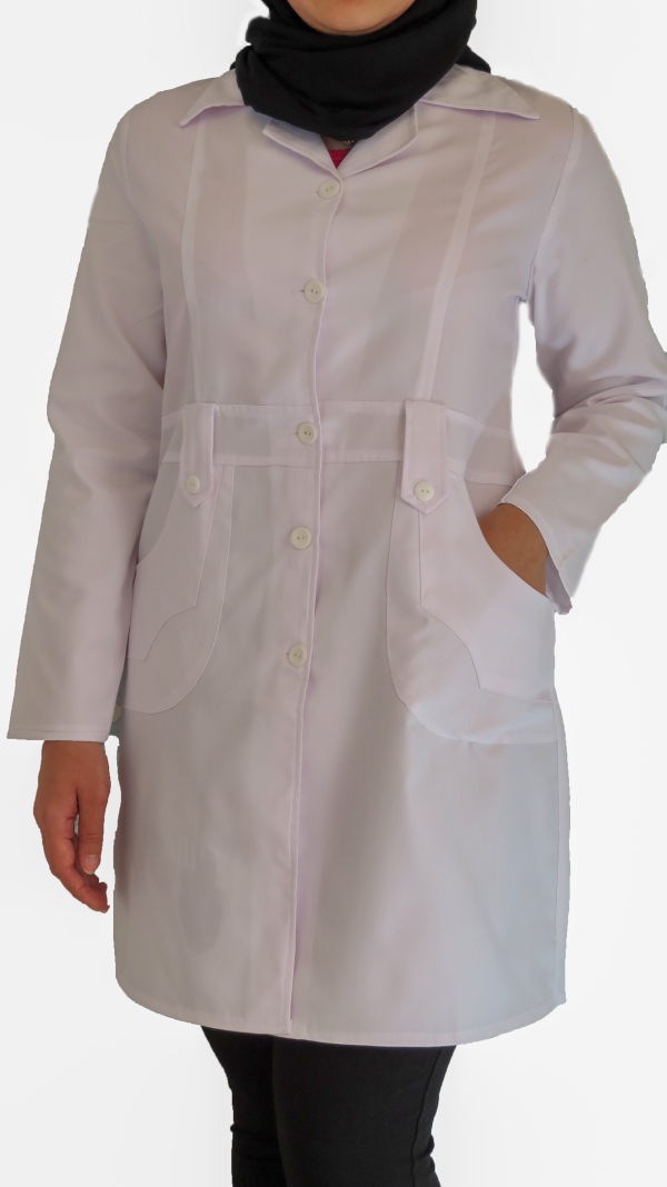 IMG 8628 copy 600x1068 - روپوش پزشکی زنانه مدل صبا