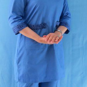 طرح دار آبی1 300x300 - اسکراب آبی گلدار زنانه