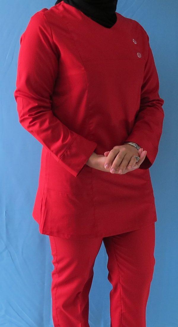 قرمز2 600x1101 - اسکراب تونیک شلوار قرمز