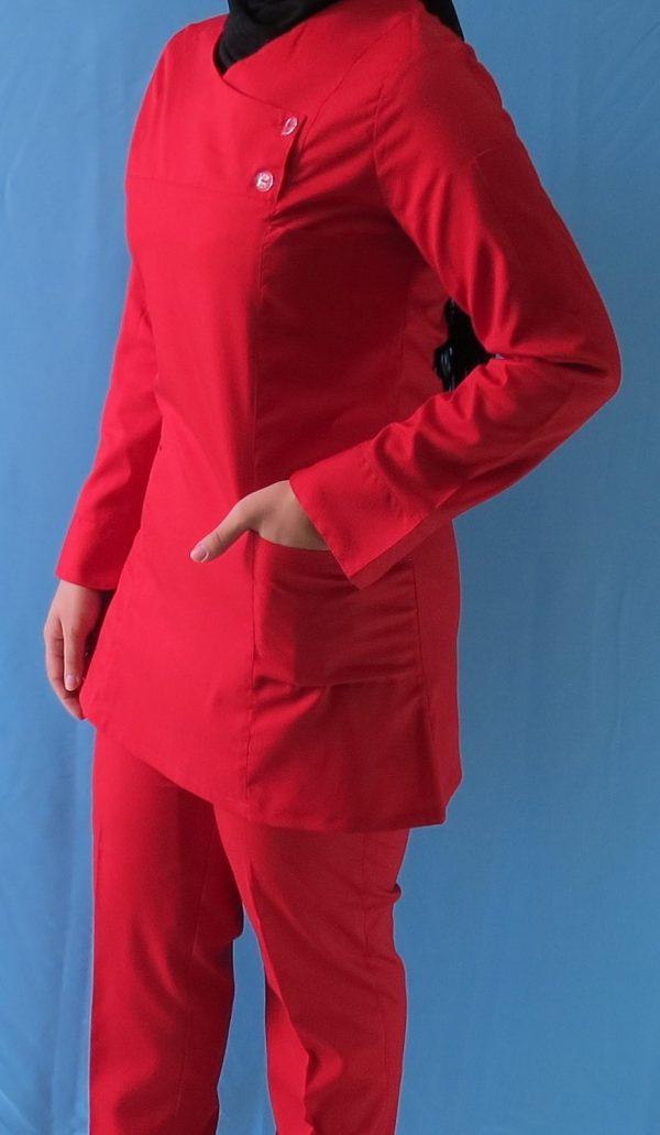 قرمز3 600x1031 - اسکراب تونیک شلوار قرمز