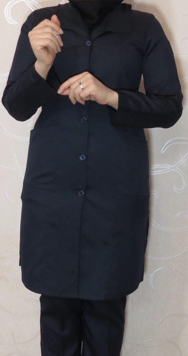 مانتو شلوار سورمه ای مدل آرشال