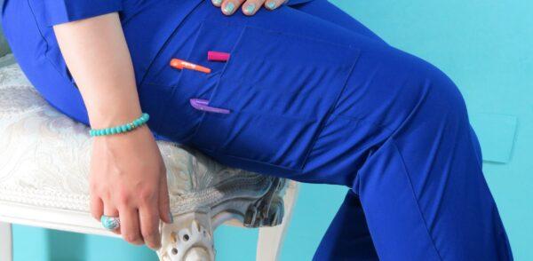 اسکراب زنانه مدل دلبر آبی کاربنی